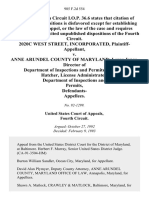 2020c West Street, Incorporated v. Anne Arundel County of Maryland Leroy Jonas, Director of Department of Inspections and Permits Anne M. Hatcher, License Administrator, Department of Inspections and Permits, Defendants, 985 F.2d 554, 4th Cir. (1993)