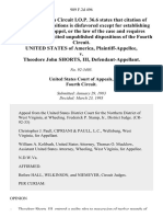 United States v. Theodore John Shorts, III, 989 F.2d 496, 4th Cir. (1993)