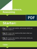 claim evidence reasoning activity