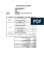 Presupuesto de Obra Julio
