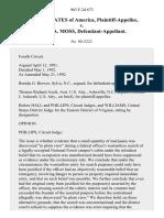 United States v. Bryan A. Moss, 963 F.2d 673, 4th Cir. (1992)