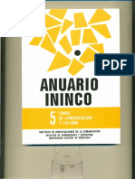 ANUARIO ININCO TEMAS DE COMUNICACIÓN Y CULTURA. VOL5. 1993. Texto completo para colección. Versión digital.