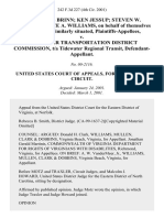 L. Douglas Brinn Ken Jessup Steven W. Jackson Joyce A. Williams, on Behalf of Themselves and All Those Similarly Situated v. Tidewater Transportation District Commission, T/a Tidewater Regional Transit, 242 F.3d 227, 4th Cir. (2001)