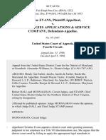 Christine Evans v. Technologies Applications & Service Company, 80 F.3d 954, 4th Cir. (1996)