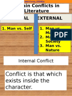 4 main conflicts in literature
