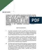 Acuerdo JG 110 2016 del Instituto Nacional Electoral, Mexico