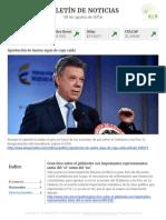 Boletín de noticias KLR 18AGO2016