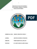 Programa de Derecho Tributario Teórico i