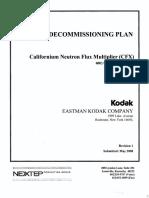 Kodak CFX Decomm Plan Rv 1