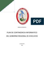 Plan de Contingencia Informatico Del Gobierno Regional de Ayacucho