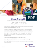 hos12 camp tranquility flyer