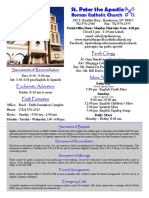 St. Peter the Apostle Bulletin 8-21-16