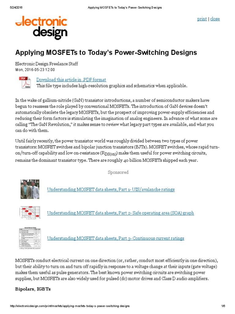 Applying Mosfet Field Effect Transistor Audio Generator Circuit Electronic Design