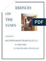 Conferences on the Vows by Mother M. Francis
