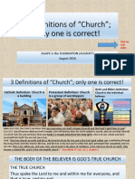 """3 Definitions of """"Church;"""" only one is correct"""