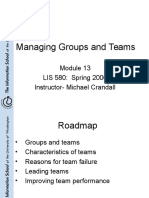 Managing Groups and Teams Michael Grinder