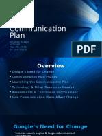 communication plan reagle