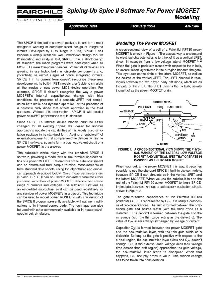 AN-7506   Field Effect Transistor   Mosfet