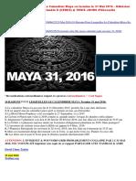 25-05-2016-10 Raisons Pour Lesquelles Le Calendrier Maya Se Termine Le 31 Mai 2016