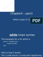 Chapter5 – Part2 - While Loops