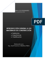 Introducción General a los Materiales de Construcción - Axel Martinez Nieto