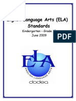 June 8 09 DoDEA K 12 ELA Standards Update 2015