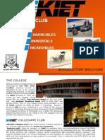 SAE-KIET Collegiate Club Brochure