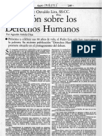Osvaldo Lira, Reflexión Sobre Los Derechos Humanos