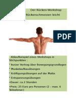 Der Rücken-Workshop – Wie Sie Rückenschmerzen Leicht Vermeiden