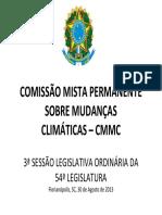 COMISSÃOMISTAPERMANENTESOBREMUDANÇAS CLIMÁTICAS–CMMC