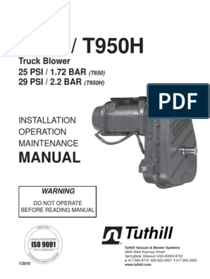 Manual T650 y T950 | Transmission (Mechanics) | Valve