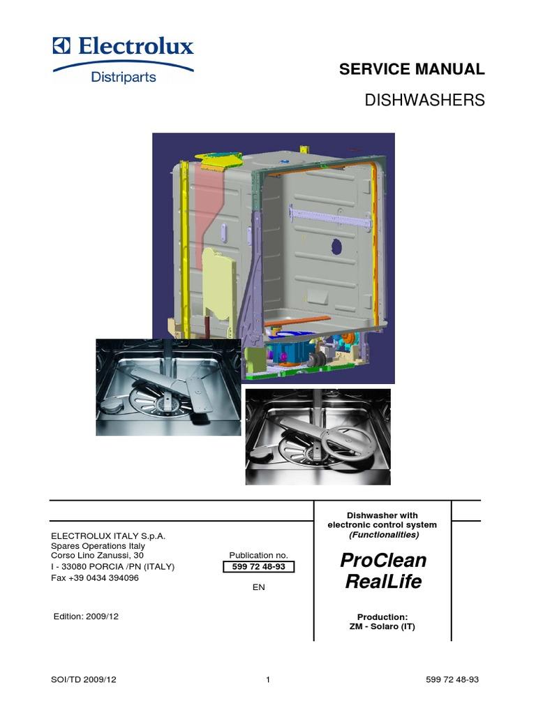 aeg electrolux dishwasher service manual dishwasher switch rh scribd com