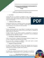 Manual de Procedimentos de Trabalho Na Incubadora; Alunos