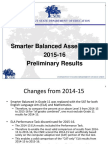 Smarter Balanced 2015 16 Preliminary Results