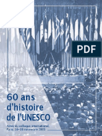 60 Ans d'Histoire de l'UNESCO