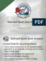 Railroad Quiet Zone Analysis
