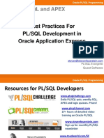PLSQL in APEX Best Practices