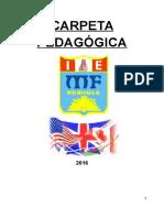 Carpeta Pedagógica de Inglés 2016 3º 4º 5º v3