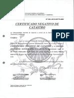 Certificado Negativo de Catrastro