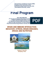 """Final Program - 9th International Neuroscience and Biological Psychiatry Regional ISBS Conference """"NEUROBIOLOGY OF MIND AND BODY"""