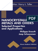 Nanocrystalline Metals and Oxides (2002)