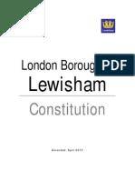 Lewisham Council Constitution - revision April 2010