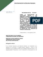 Presenta CNDH informe sobre muerte de 43 personas en Tanhuato, Michoacán