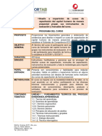 Programa Del Curso Diseño e Impartición
