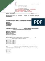 Examen Procesos II psicologicos