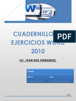 Cuadernillo de Ejercicios Word 2010
