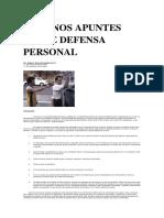 Algunos Apuntes Sobre Defensa Personal