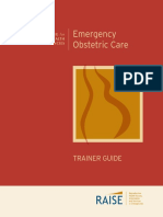 emergency obstetric  care trainer guide