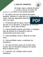 12.- Reglamento de Lavaderos