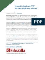 Características Del Cliente de FTP FileZilla Para Subir Páginas a Internet